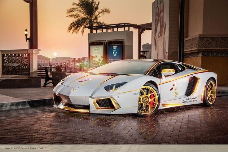 Best car photos: Gold Aventador in Dubai  http://myspin.com.au/clubs/40/show-post/444-weekly-best-car-photos-9/  #carpics #cars #bestcars #supercars #bestphotos #Aventador #Dubai