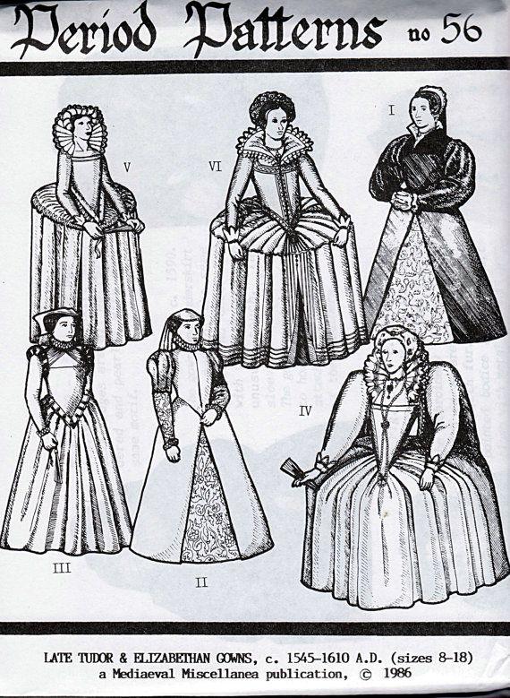 Late Tudor Elizabethan Gowns Mediaeval by TheGrannySquared on Etsy
