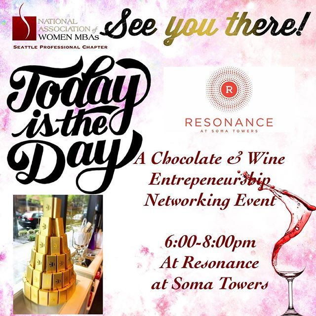 """""""#NAWMBASeattle Today is the day to our ✔️Chocolate & Wine Entrepeneurship and Networking  event.  Info (link bio) 👆 . . . #NAWMBA #NAWMBASeattle #ProfessionalDevelopment #Collaboration #Networking #WomenEmpowerment #ResonanceSomaTowers #Chocolate #seleušschocolates #mixsndmingle #Seattle #king5events #events #Entrepreneurs #entrepreneurship #alexanderlong #ChocolateandWineTasting"""" by @nawmba_seattle. #이벤트 #show #parties #entertainment #catering #travelling #traveler #tourism #travelingram…"""