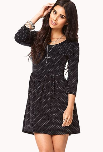 Dainty Dot Fit and Flare Dress