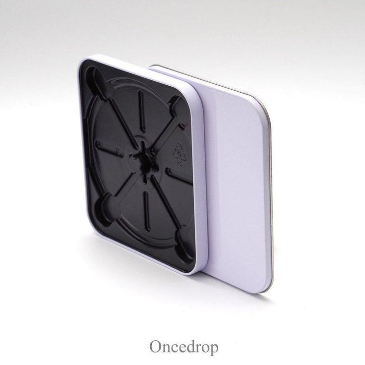 White Single CD Tin box Bland DIY Storage Boxes - Qty 1