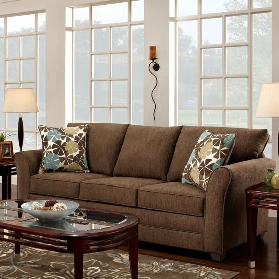 Council Fudge Casual Sofa With Flared Track Arms By Washington Furniture