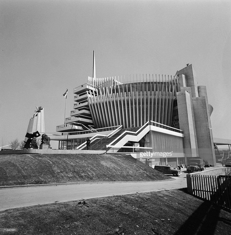 The British (left) and French pavilions at the Expo '67 World's Fair in Montreal, Canada, May 1967.