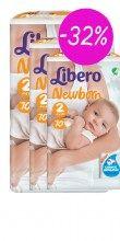 Πάνες Libero Newborn No2 Mini 3-6kg (3x70τμ) -32%
