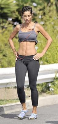 Celebs in stylish workout gear.