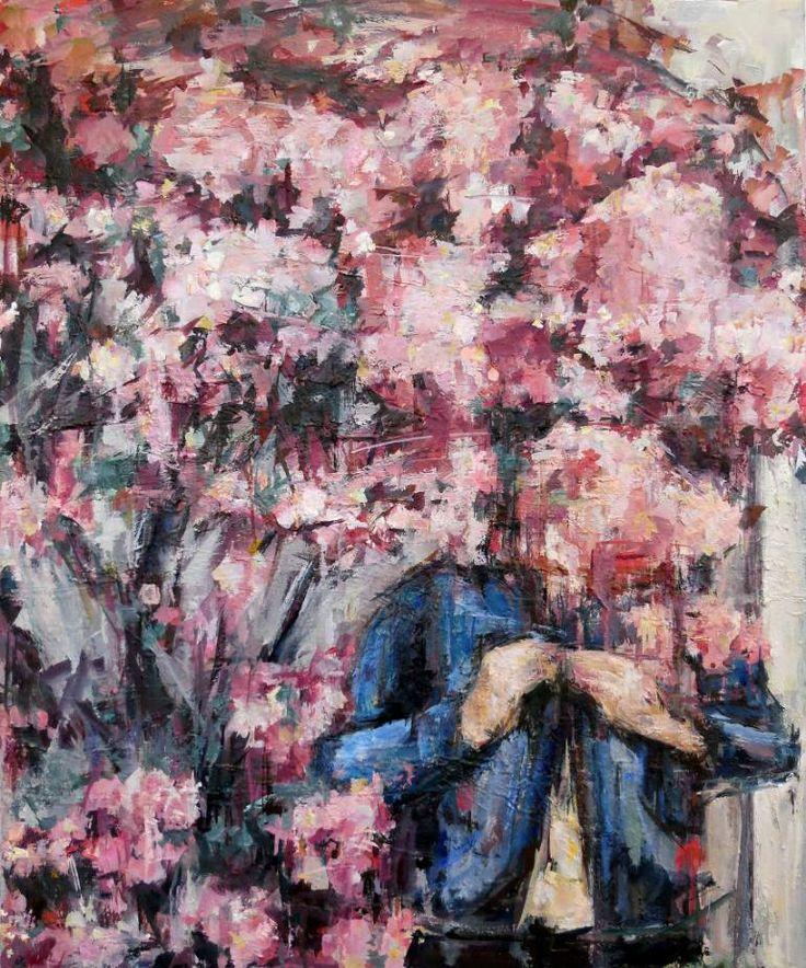 The pink pink paintingartist paintingpink artmodern paintingsoil