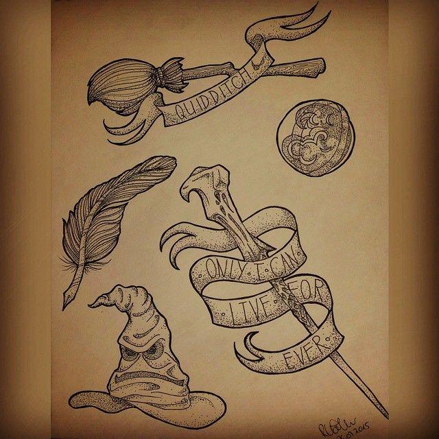 Harry Potter Neo traditionelles Tattoo – Google-Suche
