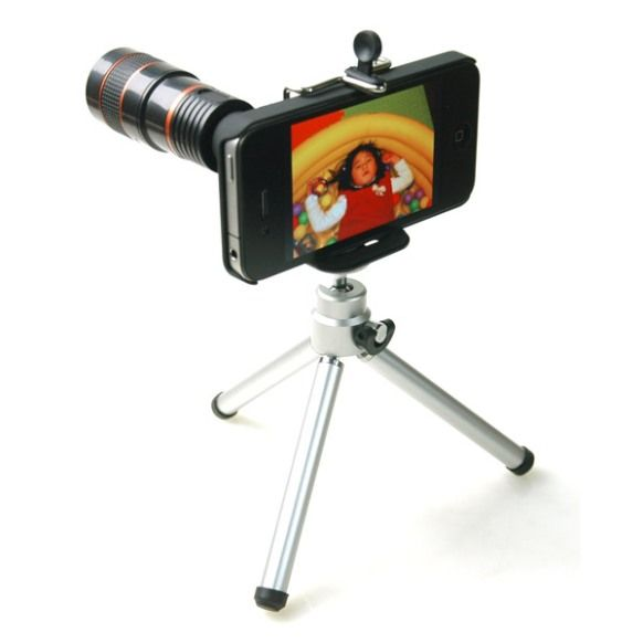 INFMETRY:: iPhone 4 8x Telephoto Lens With Tripod - Phone Accessories - Electronics