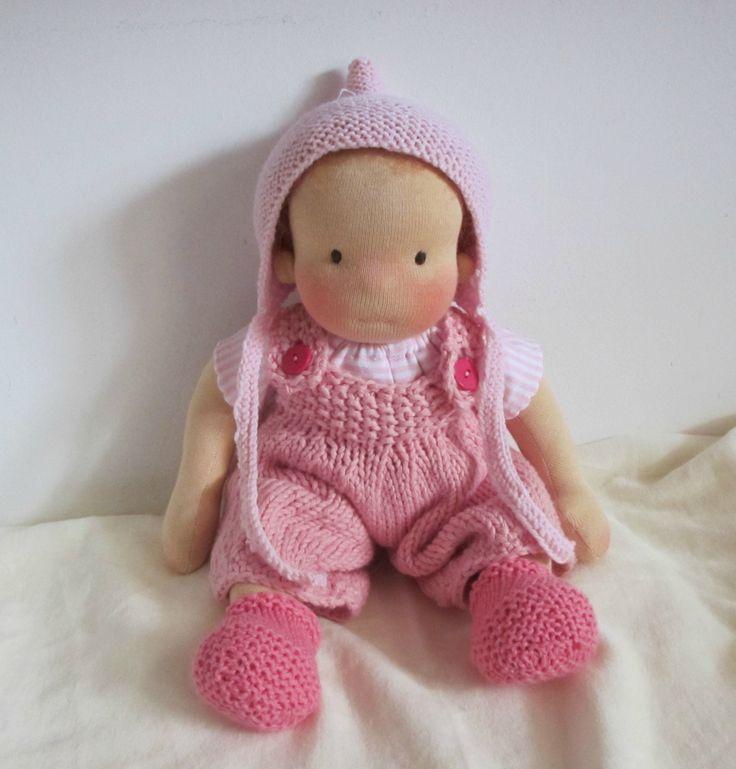Waldorf inspired doll, little baby girl, 12 inch / 30 cm door Poppenina op Etsy