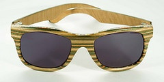Hand made recycled skateboard sunglasses