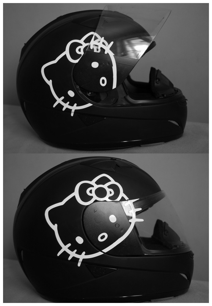 Hello Kitty Helmet. Think Joshua will mind this on the Harley??