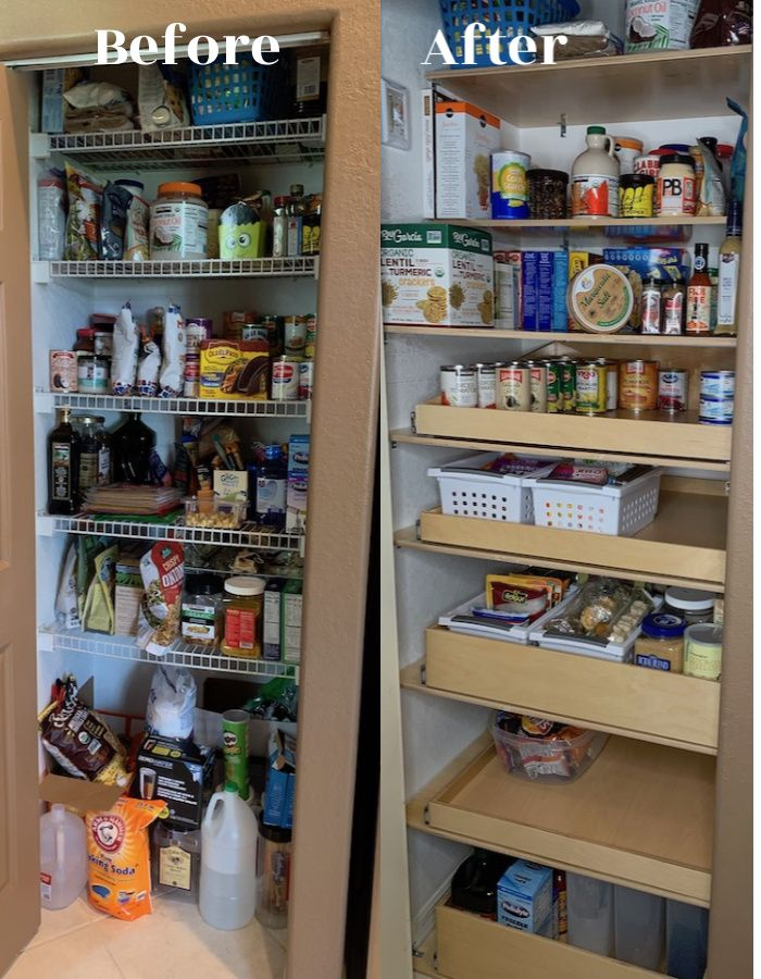 Kitchen Organization With Smart Sliding Shelves For Pantry Pantry Shelving Pull Out Shelves Diy Pantry Organization