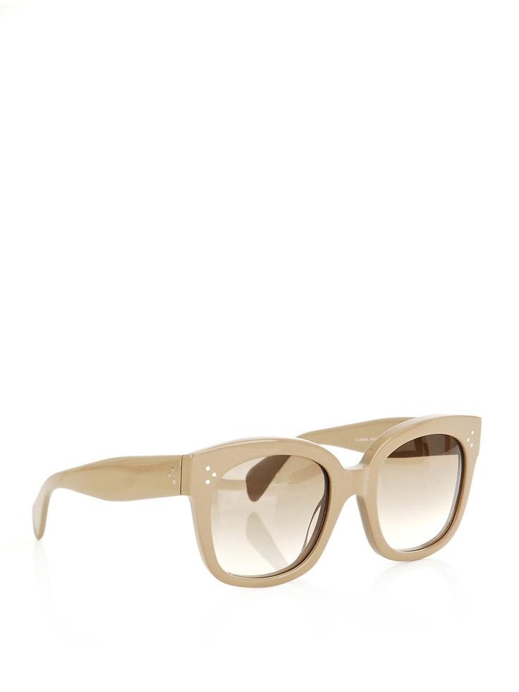 coveting these sunnies: Celine Sunglasses, Retro Sunglasses, 2012 Sunglasses, Color Glasses, Celine Sunny, Audrey Sunglasses, Beige Sunglasses, Nice Sunglasses, Celine Audrey