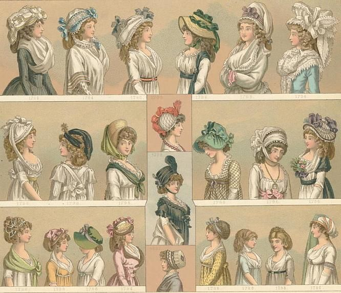 Hats from the 1790s