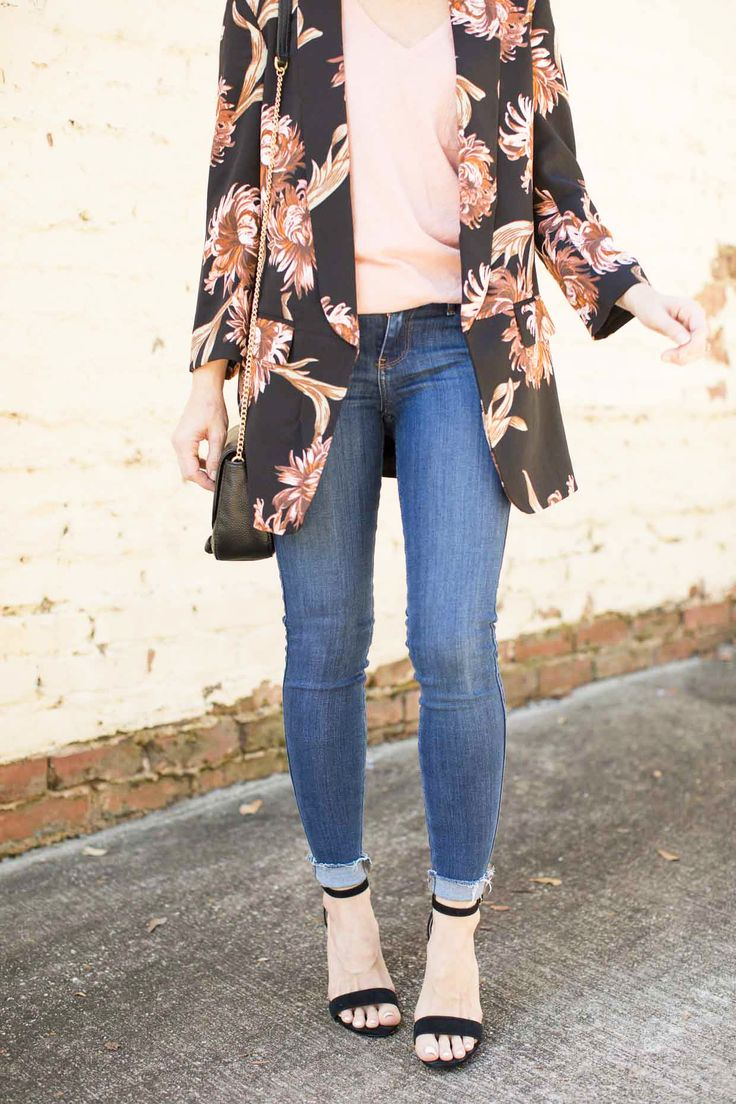How To Style A Floral Blazer For Fall - Poor Little It Girl