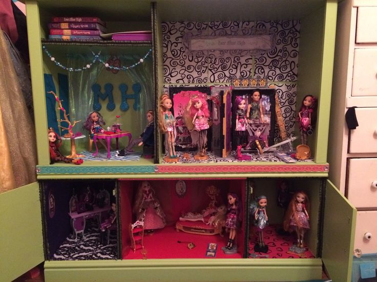 Ever After High Doll House From Old Entertainment Center