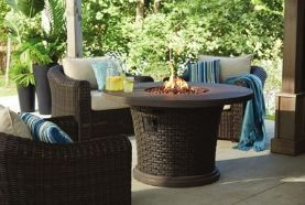 Combine your outdoor conversation dining and heating into one with the CANVAS Highbury Gas Fire Table