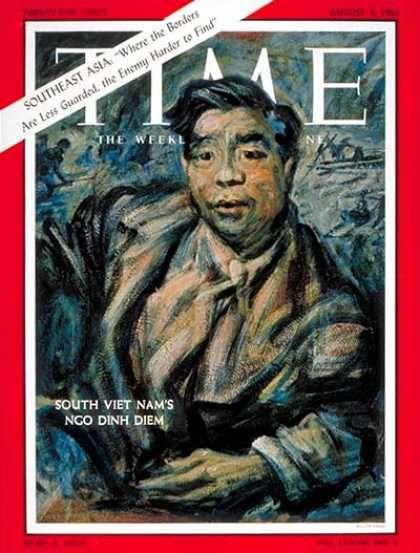 SOUTH VIET NAM's NGO DINH DIEM - TIME magazine, August 4, 1961.