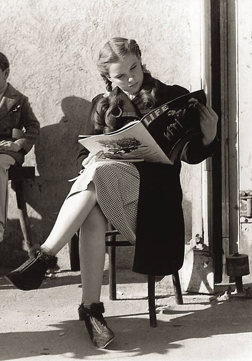 Judy Garland on the set of The Wizard of Oz.