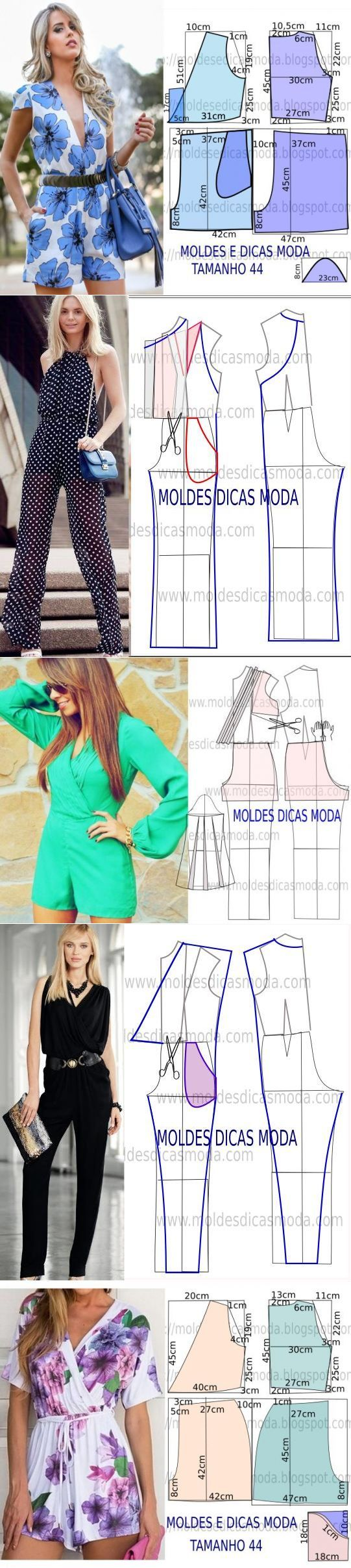 Sewing Pattern/ jumpsuits and Rompers: