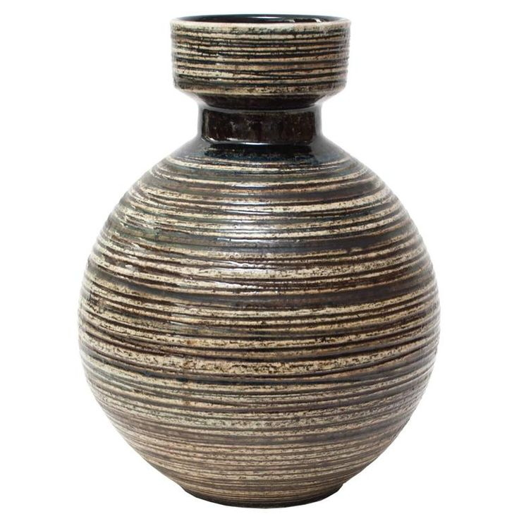 Scandinavian Modern Large Studio Vase by Britt-Louise Sundell for Gustavsberg | From a unique collection of antique and modern vases at https://luigi.1stdibs.com/furniture/decorative-objects/vases-vessels/vases/