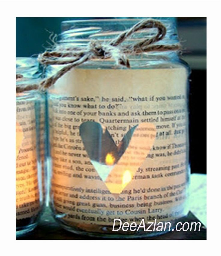 books and literature wedding decor  – book candle bottle