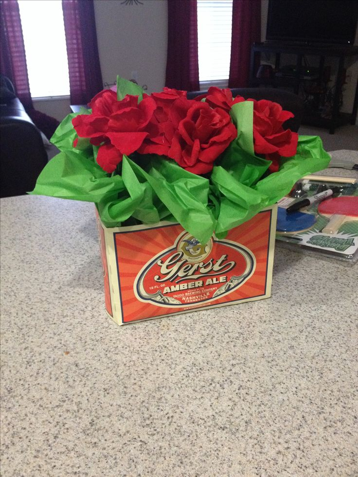 Favorite Beer turned into a bouquet for him! Valentines Day!