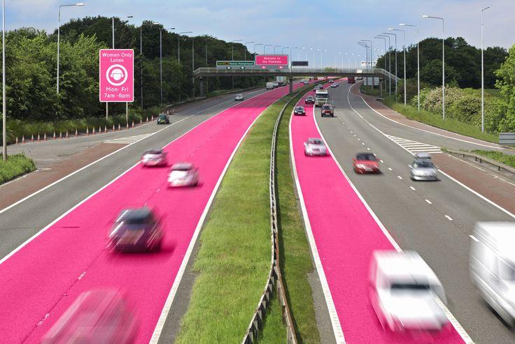 Sheilas' Wheels unveils PinkZones gender split roads
