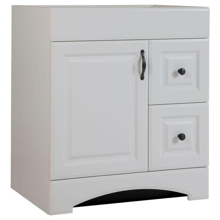 Glacier Bay Regency 30 In Vanity Cabinet Only In White