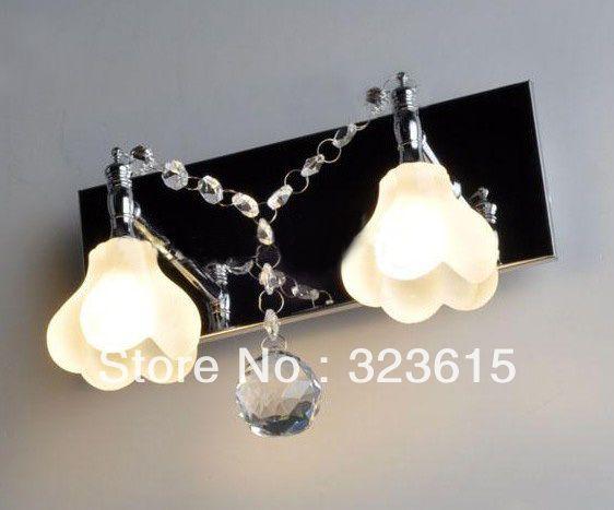 Стеклянные цветы стены бра современные мода K9 хрусталя бра гостиная столовая свет 25 см * 22 см