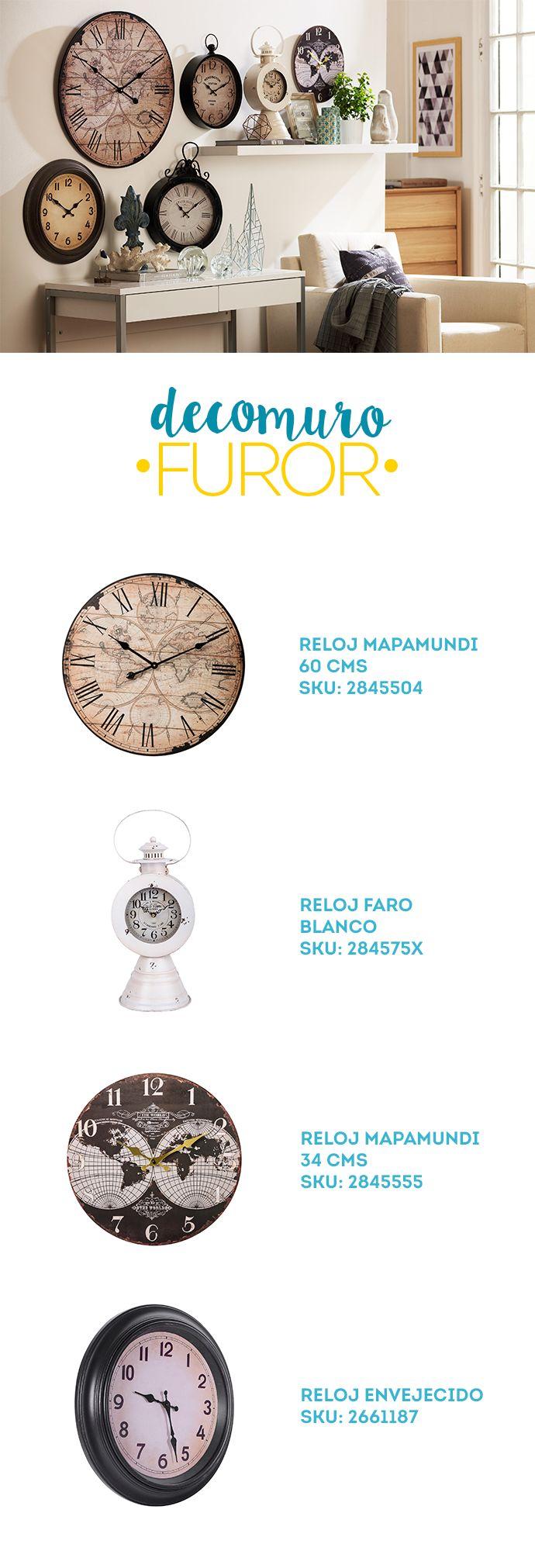 ¿Te animas con una #decoración llena de #relojes? #DecomuroFuror #Decomuro #Pared #Reloj #Deco #Muro