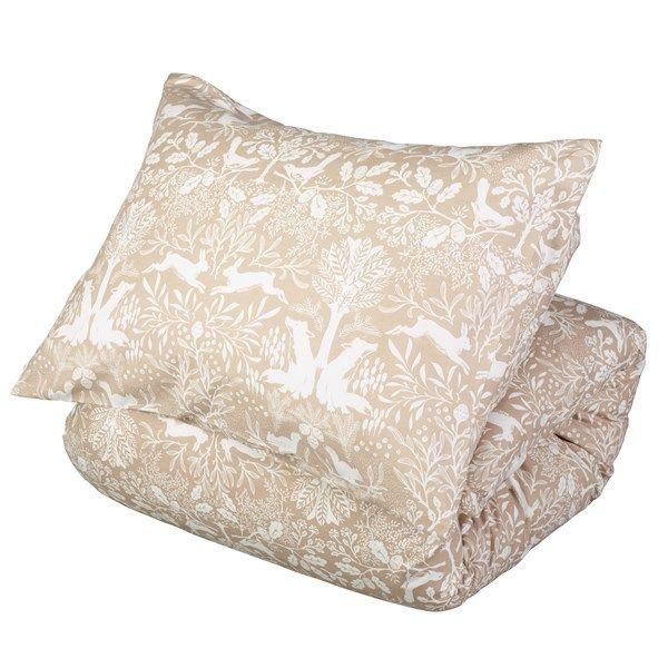 Et koselig flanell sengesett til enkeltdyne. Bilde er lagt ved som eksempel