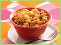 Hungry Girl Cheeseburger Mac Attack:  179 calories, 5.75g fat, 5 WW points+ per (1/8th of recipe, about 1 cup) serving