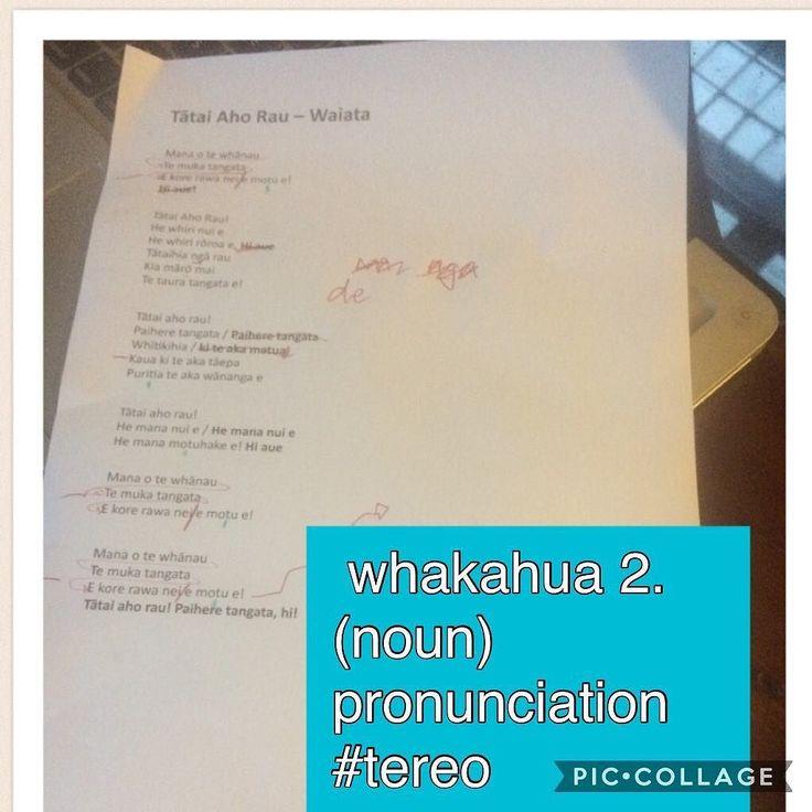 whakahua 2. (noun) pronunciation  #tereo Mahi on the whakahua of the work waiata #māori #mahi #music #waiata