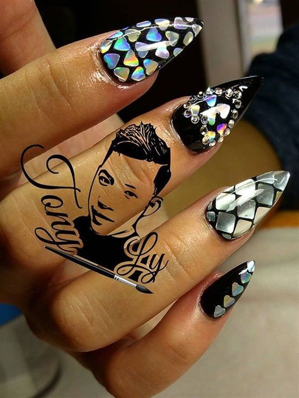 189 best badass nails images on pinterest nail designs make up watermarks with signature style prinsesfo Image collections