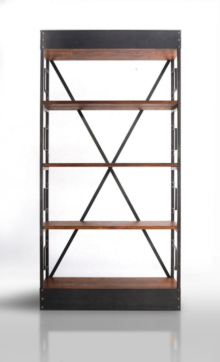 La base y la parte superior de la plataforma se hacen de la hoja de polvo caliente, para que el color oscuro de la placa es traído a la palestra. Para el metal crudo encajar maravillosamente cuatro tablas, en la que ambos es un exhaustivo libro o colección de discos, así como de artículos favoritos. Los remaches de acero subrayan el carácter de los muebles. Una ventaja adicional es que la parrilla tiene soportes laterales que permiten el almacenamiento de libros, ya que evitan la caída de…