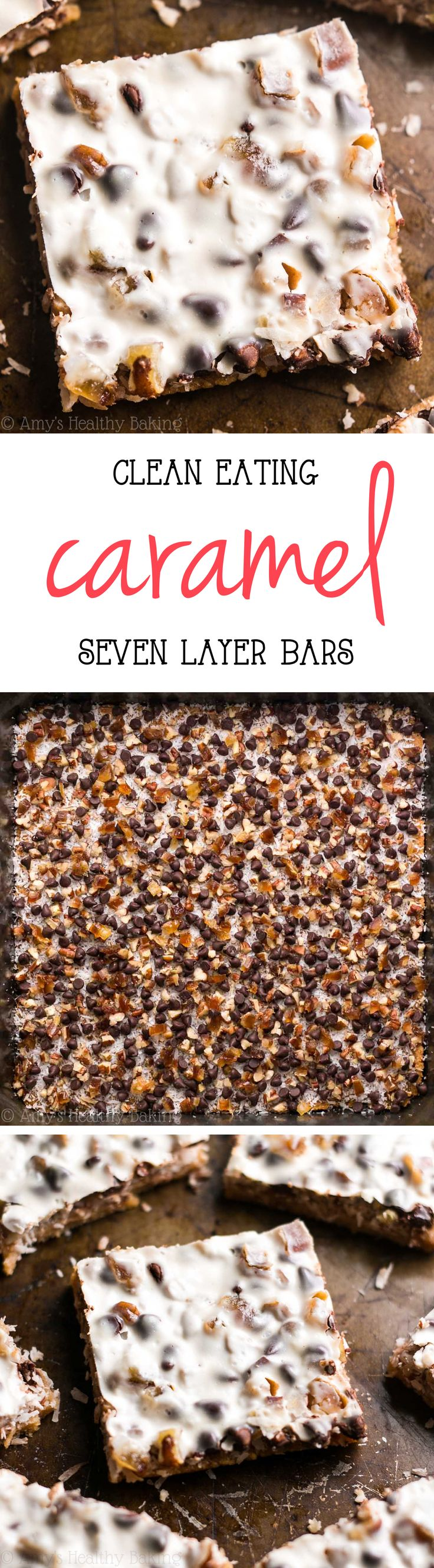 Skinny Caramel Seven Layer Bars – just 84 calories!! With a few healthy swaps, these magic bars have all of the decadence but NONE of the guilt! They don't taste healthy at all!z
