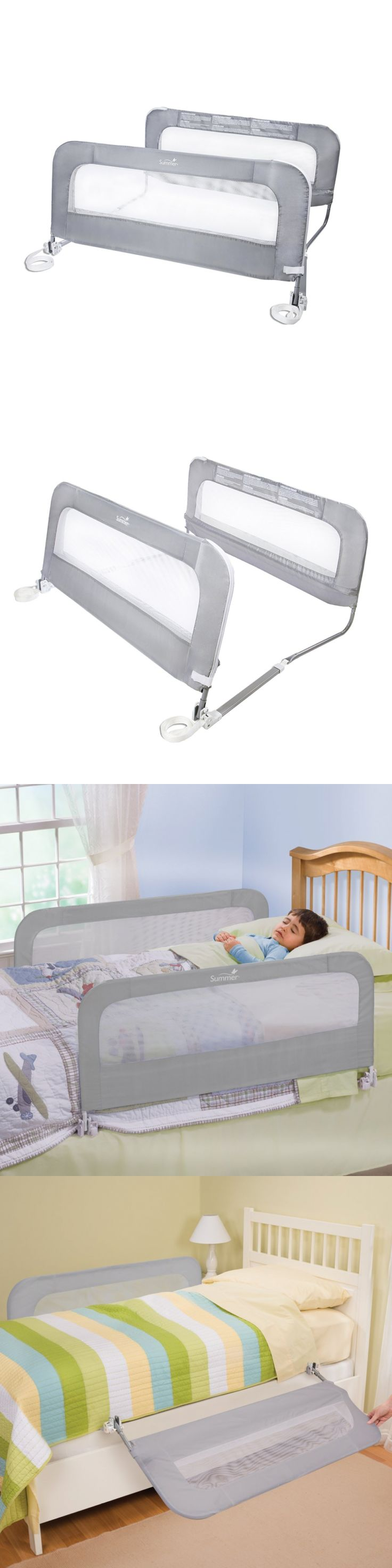 Bed Rails 162183 Summer Infant Double Safety Bedrail Grey BUY IT NOW