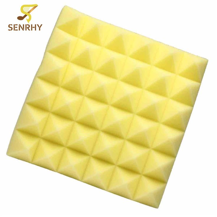 Beautiful New cm Yellow Studio Acoustic Soundproof Foam Sound Absorption Treatment Panel Tile