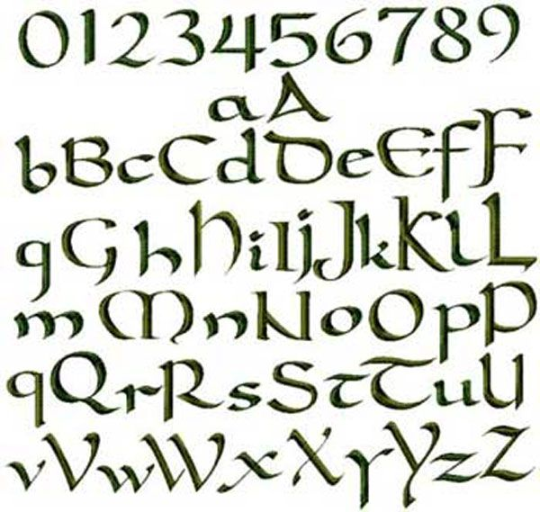 Irish Fonts fonts, embroidery and the o'jays on pinterest