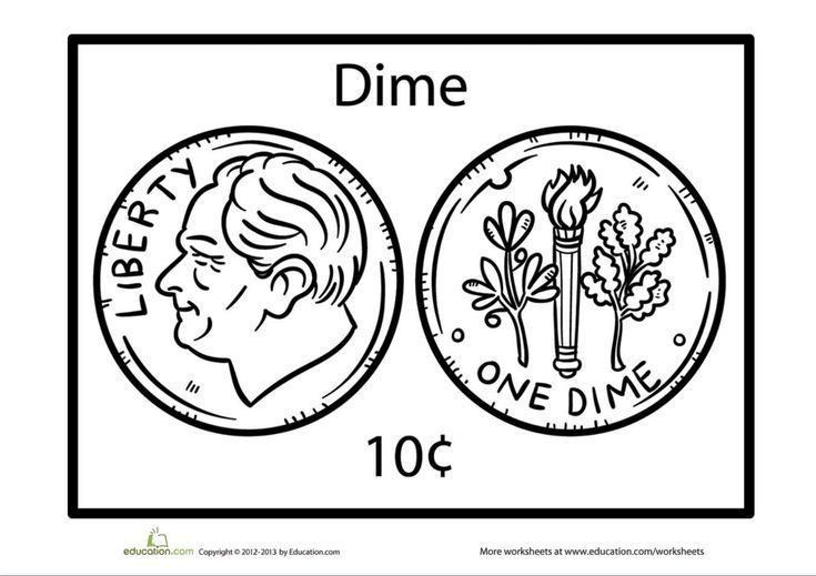 Dollar Coloring Page Coloring Pages Worksheets Teaching Money