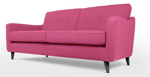 17 best images about pink sofas canap s rose on pinterest living rooms manhattan apartment - Camif sofa converteerbare ...