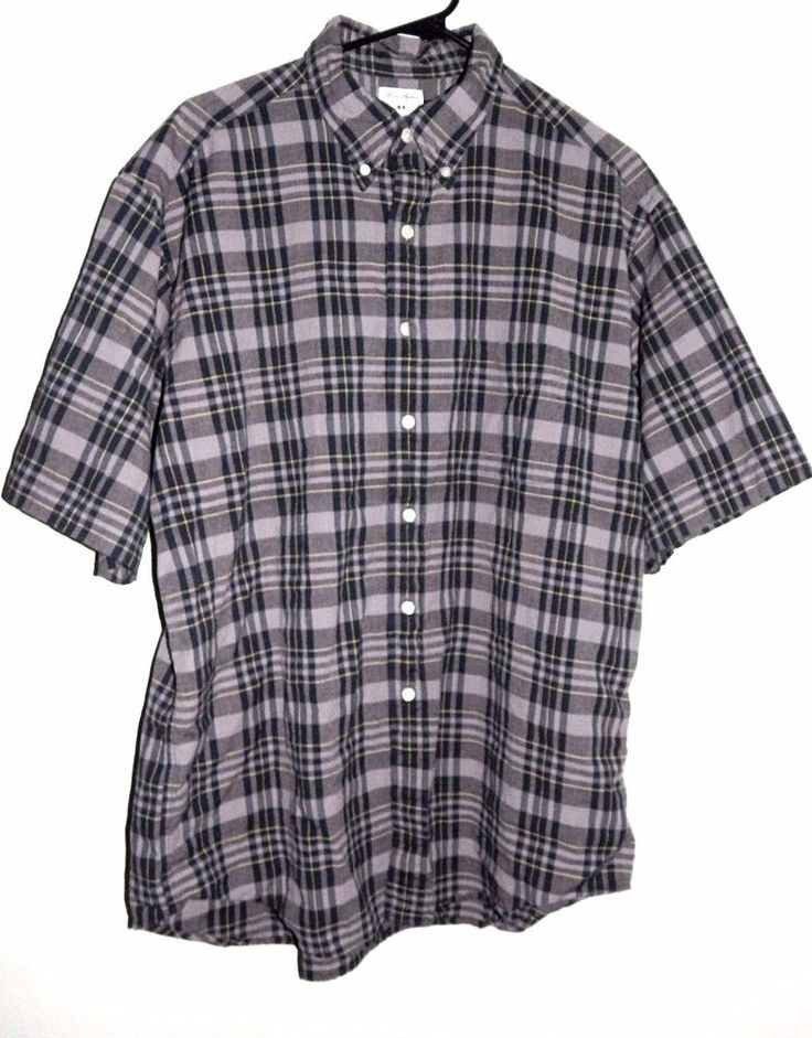 Brooks Brothers Men's Sport Casual Short Sleeve Shirt Sz Large Plaid #BrooksBrothers