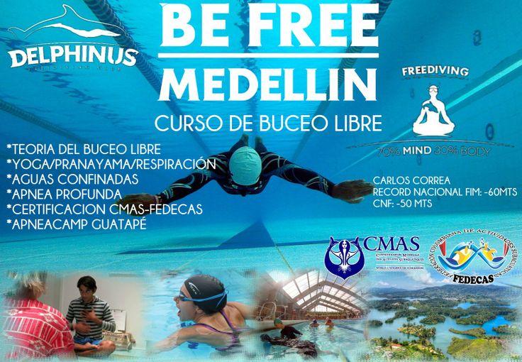 curso buceo libre en Medellin con Carlos Correa, record nacional apnea #befree #apneacolombia #clubdelphinus