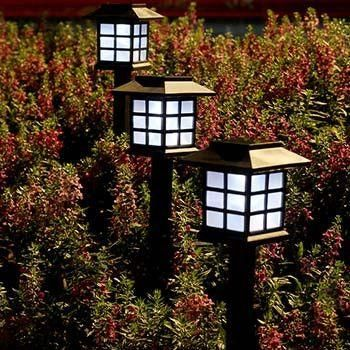 Decorate your garden with this Japanese style garden lampsMade from durable weatherproof materials Lamp color: warm-white LED light Creates a unique and trendy light effect on the ground Lights up automatically at night and saves energy ...