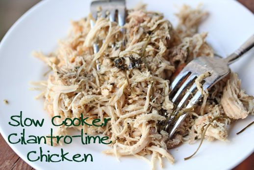 Slow Cooker Cilantro Lime Shredded Chicken | 5DollarDinners.com - Perfect for your favorite Mexican chicken dishes!