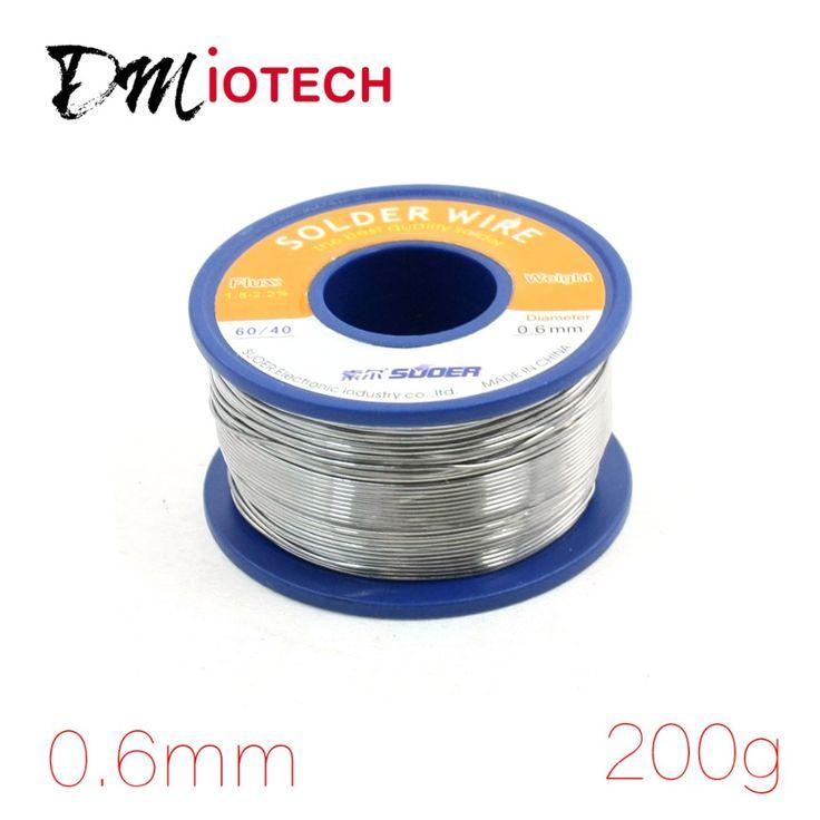 $22.26 (Buy here: https://alitems.com/g/1e8d114494ebda23ff8b16525dc3e8/?i=5&ulp=https%3A%2F%2Fwww.aliexpress.com%2Fitem%2FRosin-Roll-Core-Solder-Wire-Tin-Lead-Flux-Soldering-Welding-Iron-Reel%2F32615610341.html ) 0.6mm 200g Rosin Roll Core Solder Wire Tin Lead Flux Soldering Welding Iron Reel 60% SN (Tin) 40% PB (Lead) for just $22.26