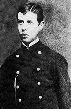 """Subteniente Arturo Pérez Canto de la 4° compañía del Regimiento 6.º de Línea """"Chacabuco"""", luchó y murió en la batalla de La Concepción los días 9 y 10 de Julio de 1882."""