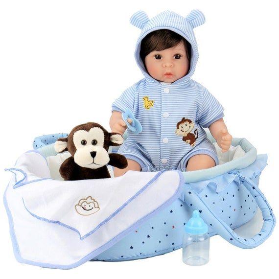 Lifelike Handmade Realistic Vinyl 18 inch Toddler Girl Doll Gift Great to Reborn