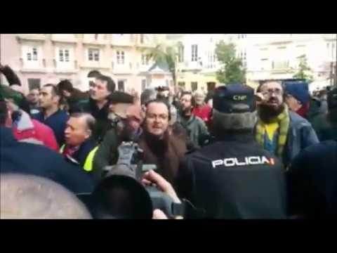 Comité bienvenida pueblo gaditano a Susana Díaz presidenta Andalucía PSOE